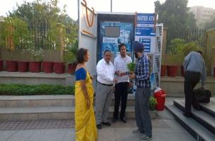 Water ATM India - ASJ team welcoming the dignitaries