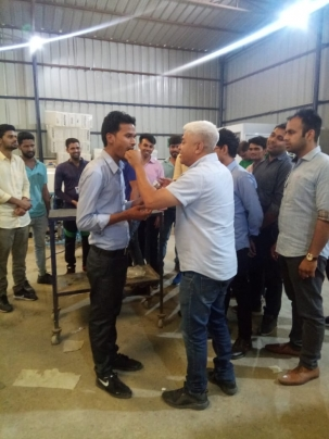 Rahul Kumawat with Mr. Akshay (Director)