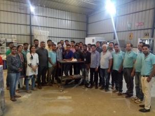 Rahul Kumawat with Team