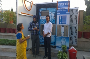 Water ATM India - The newly installed ASJ ATM at Badarpur Metro Station