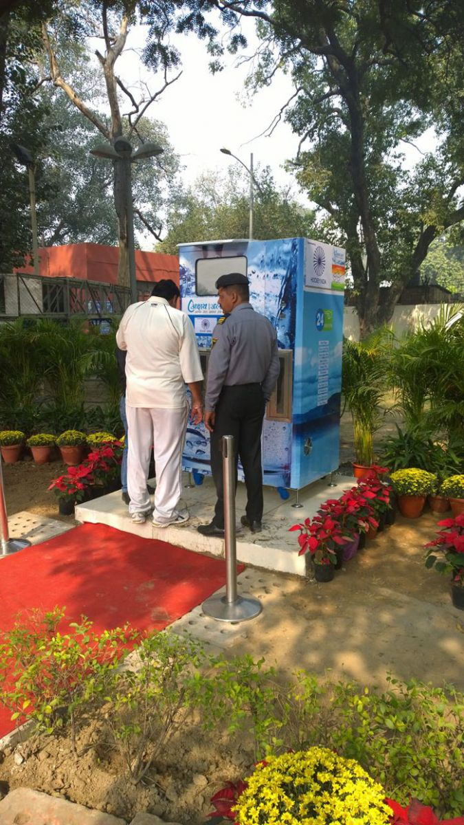 Akshay Swachh Jal ATM at Major Dhyan Chand Stadium