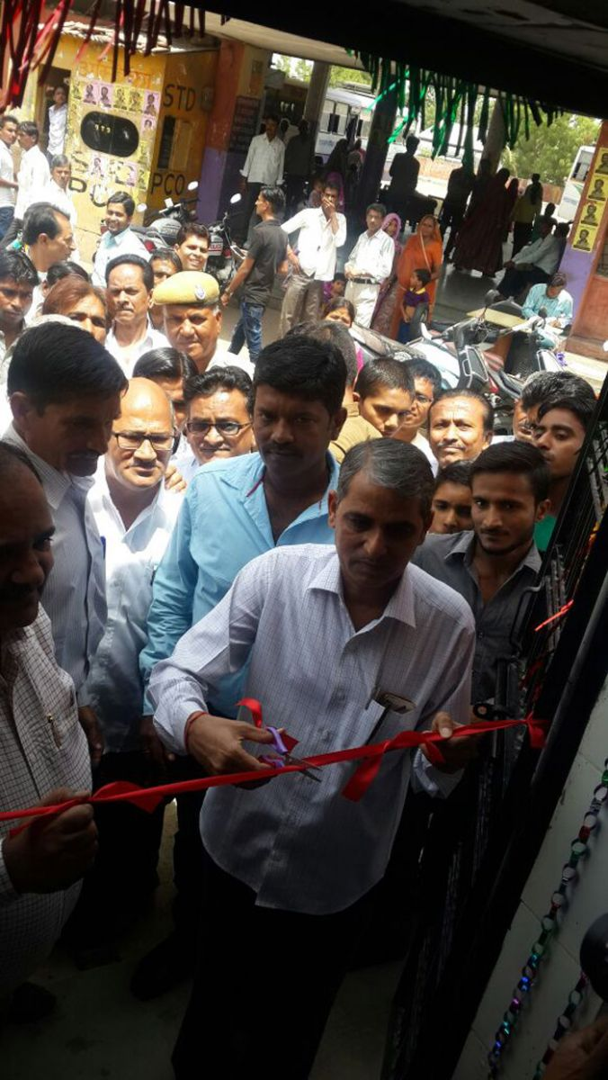Akshay Swachh Jal Water ATM being inaugurated at Sirohi Bus Stand