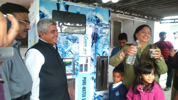Inauguration of Akshay Swachh Jal Water ATM at BK Hospital, Faridabad