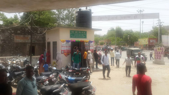 Travelers using ASJ water ATM at Sirohi Bus Stand 2