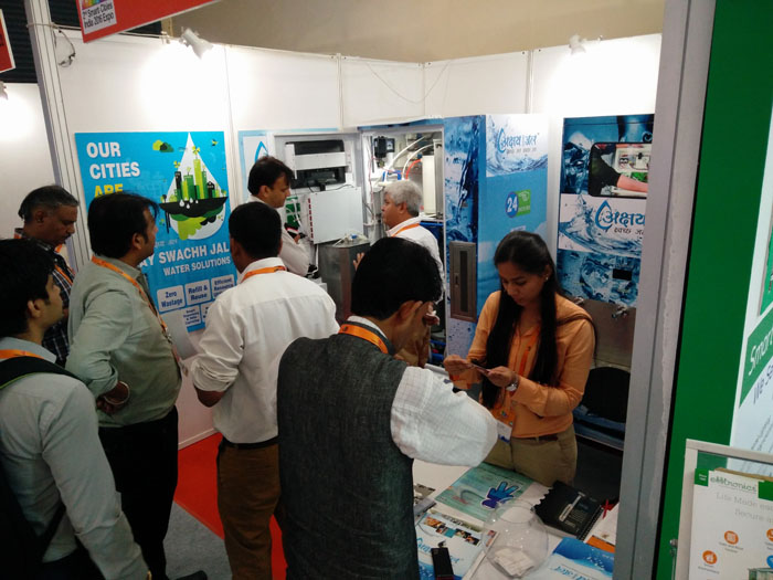 Visitors at the Akshay Swachh Jal Booth